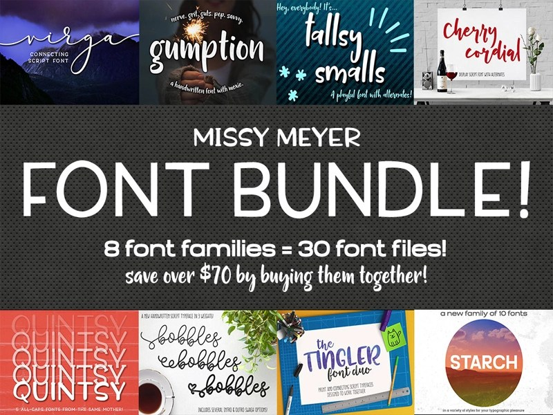 Download The Missy Meyer Font Bundle by TheHungryJPEG.com ...