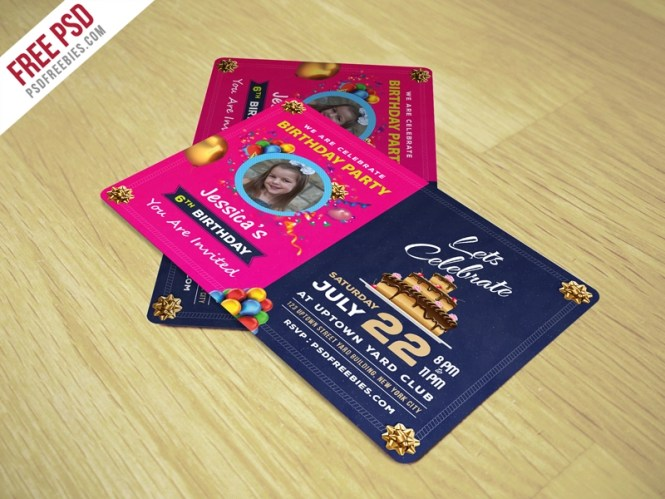 Birthday Invitation Card Template Free