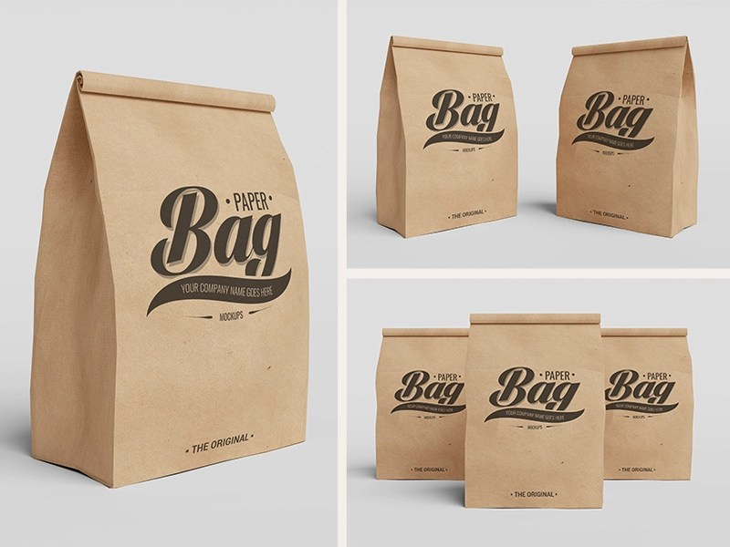 Download Free Paper Bag Mockups by Photoshop Lady on Dribbble
