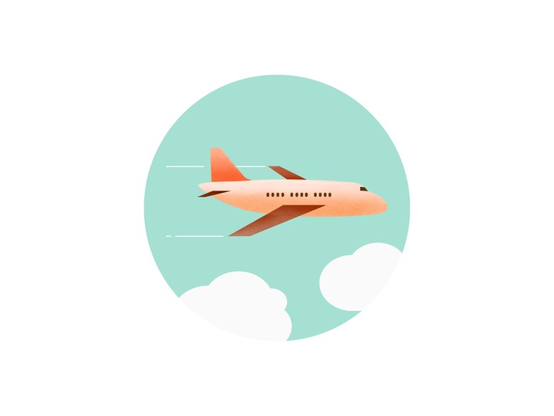 Airplane illustration by Miyeon Kim on Dribbble