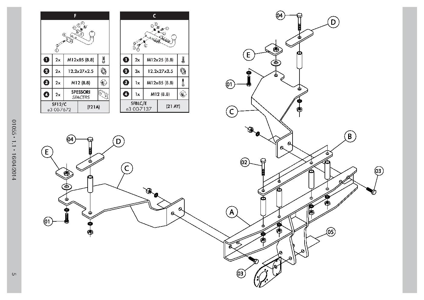 Detachable Towbar 13p C2 Wiring For Alfa Romeo 159