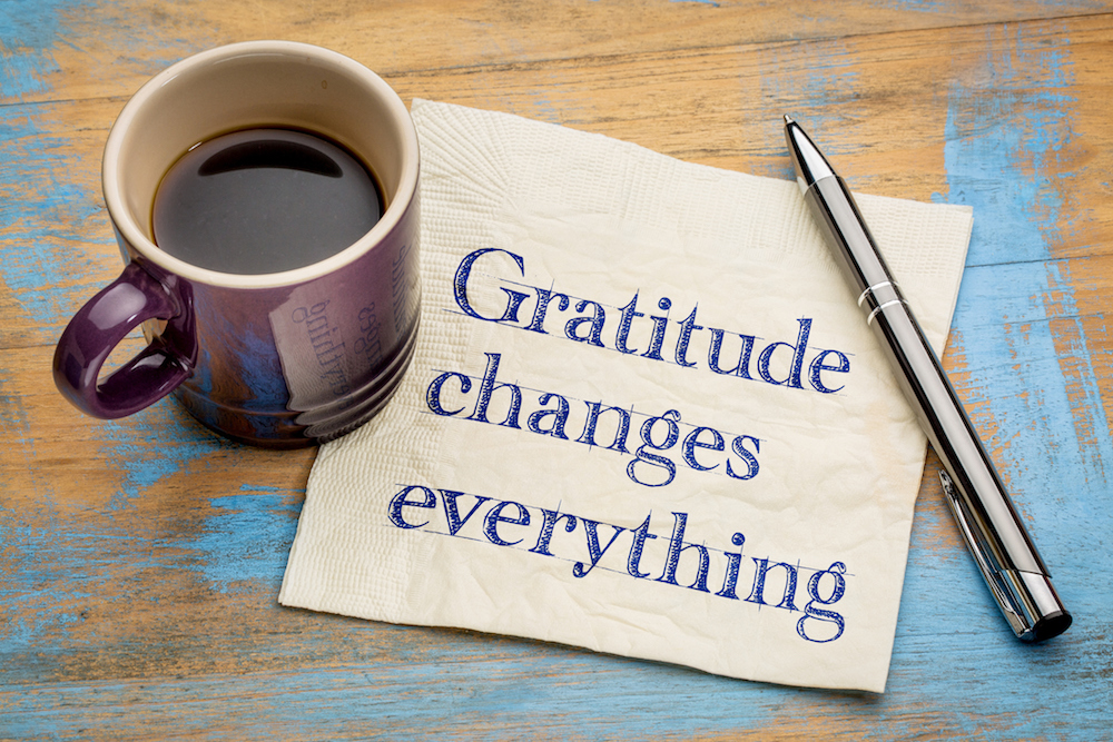 Adopting an attitude of gratitude can change your life