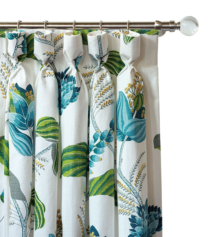 clementine embroidered curtain panel eastern accents