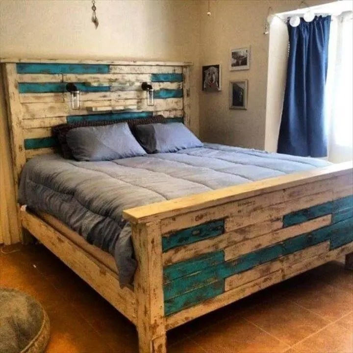 100 DIY Recycled Pallet Bed Frame Designs - Page 5 of 6 ... on Bed Pallet Design  id=47700