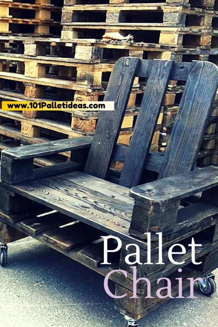Diy Black Stained Pallet Chair Easy Pallet Ideas