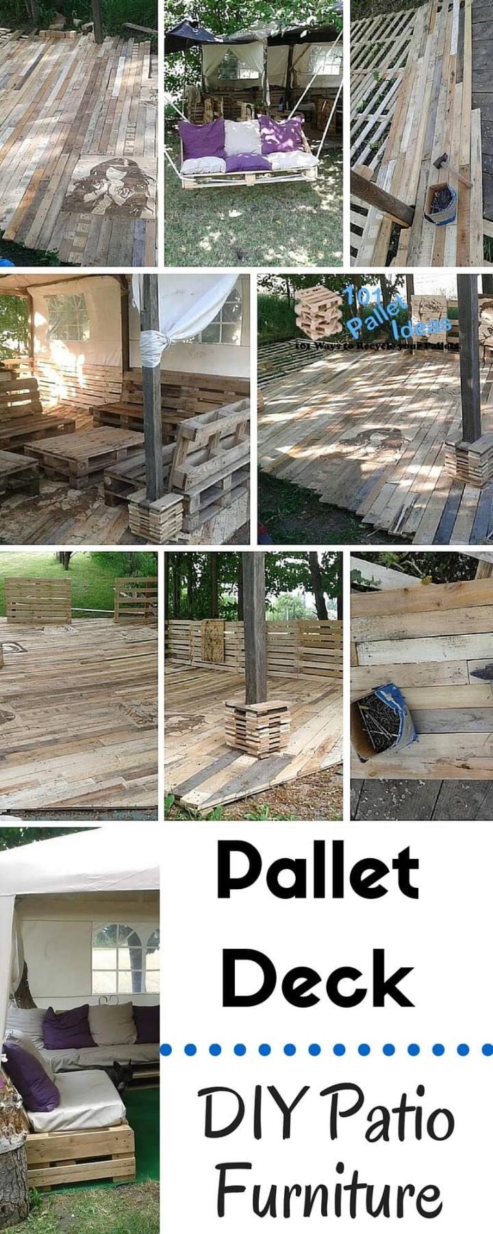 pallet deck construction diy patio