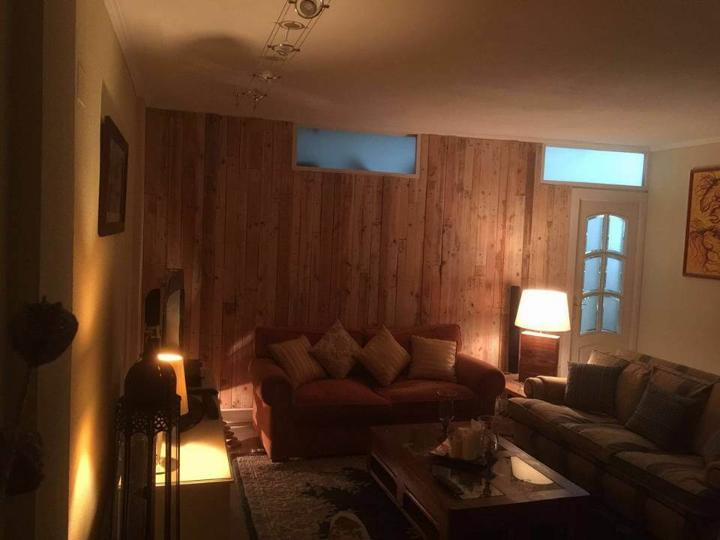 Pallet Wood Wall Paneling - Stairway and Living Room ... on Pallet Room Ideas  id=64615