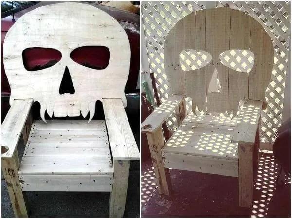 Chair Diy Blueprints Skull Lawn
