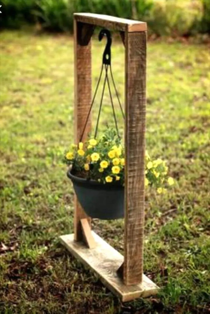 130+ Inspired Wood Pallet Projects and Ideas - Page 5 of ... on Hanging Plant Stand Ideas  id=81003