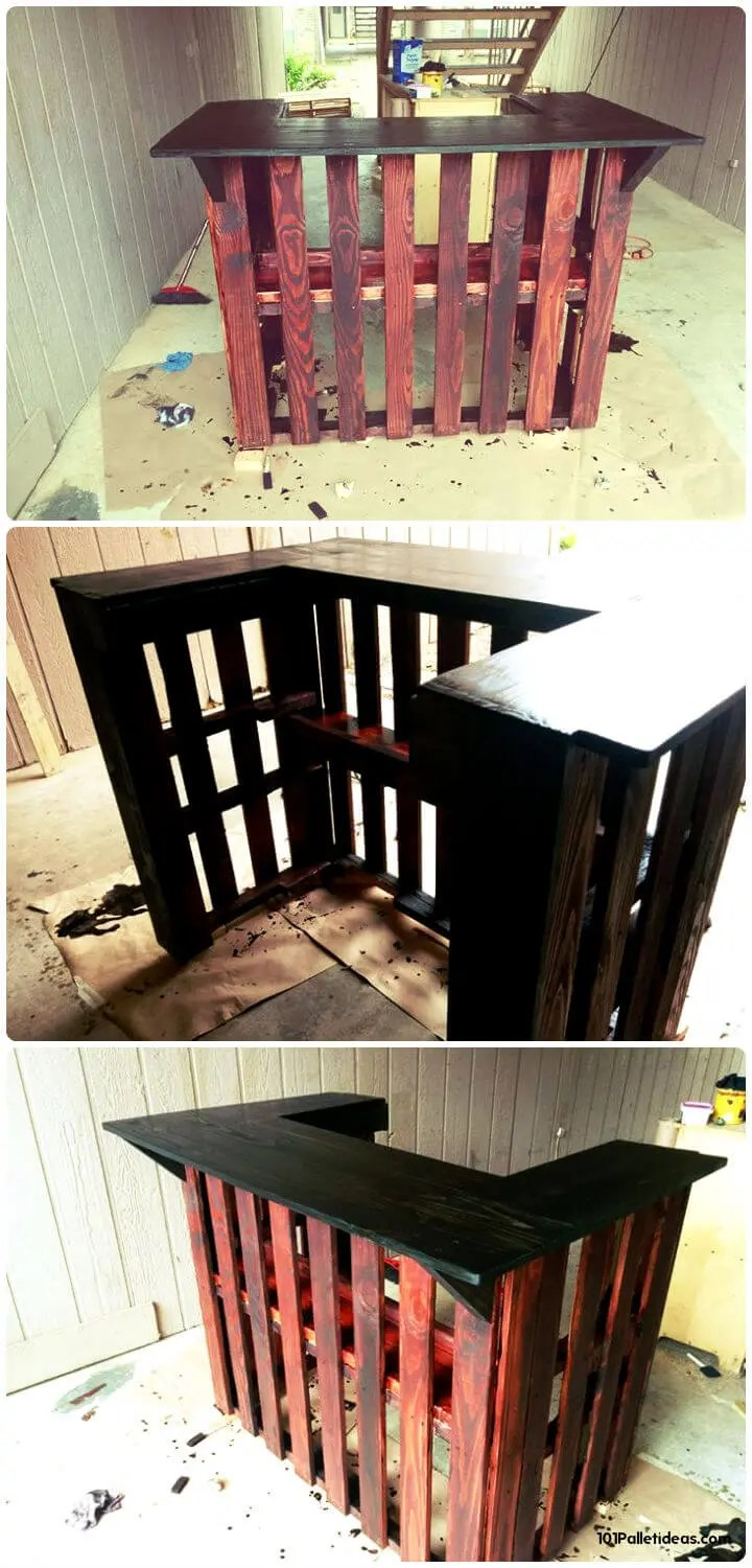 50+ Best-loved Pallet Bar Ideas & Projects - Page 2 of 5 ... on Pallet Design Ideas  id=23687