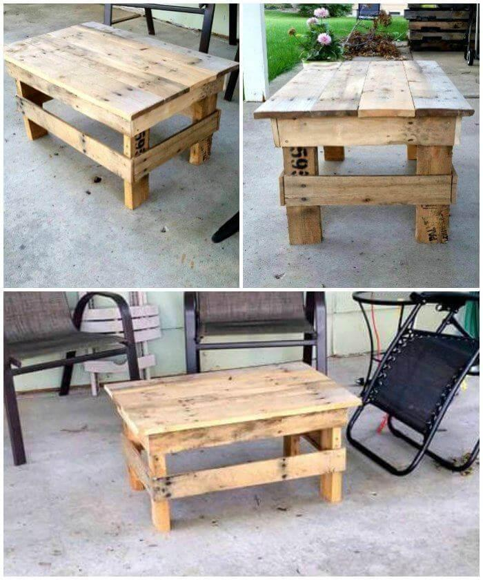 Pallet Coffee Table - Mini Design - Easy Pallet Ideas on Pallets Design Ideas  id=60501