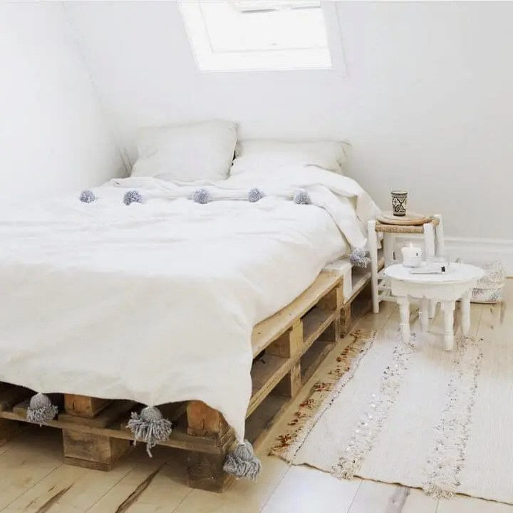 100 DIY Recycled Pallet Bed Frame Designs - Easy Pallet Ideas on Bed Pallet Design  id=98138