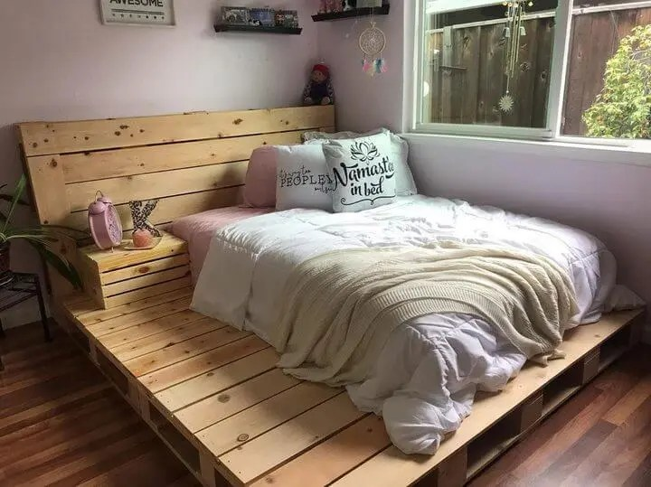 100 DIY Recycled Pallet Bed Frame Designs - Easy Pallet Ideas on Bed Pallet Design  id=69484