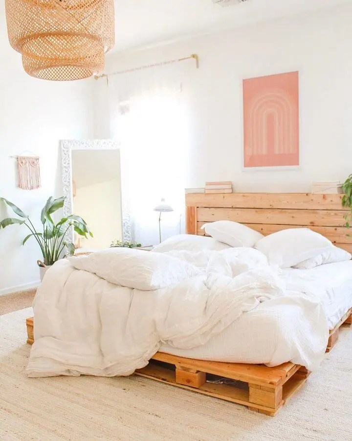 100 DIY Recycled Pallet Bed Frame Designs - Easy Pallet Ideas on Bed Pallet Design  id=11697