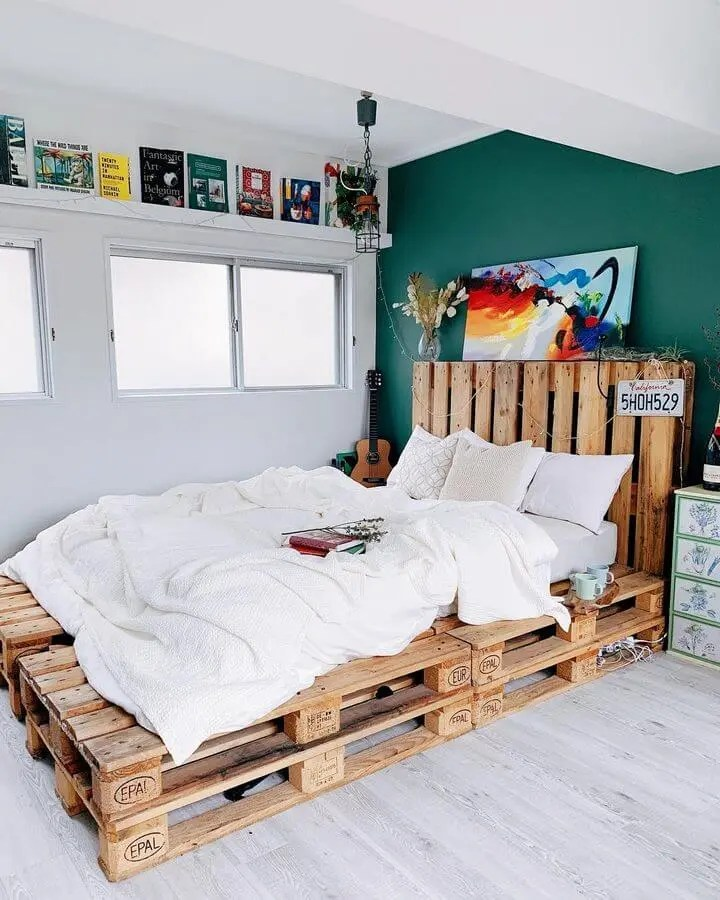 100 DIY Recycled Pallet Bed Frame Designs - Easy Pallet Ideas on Bed Pallet Design  id=17889