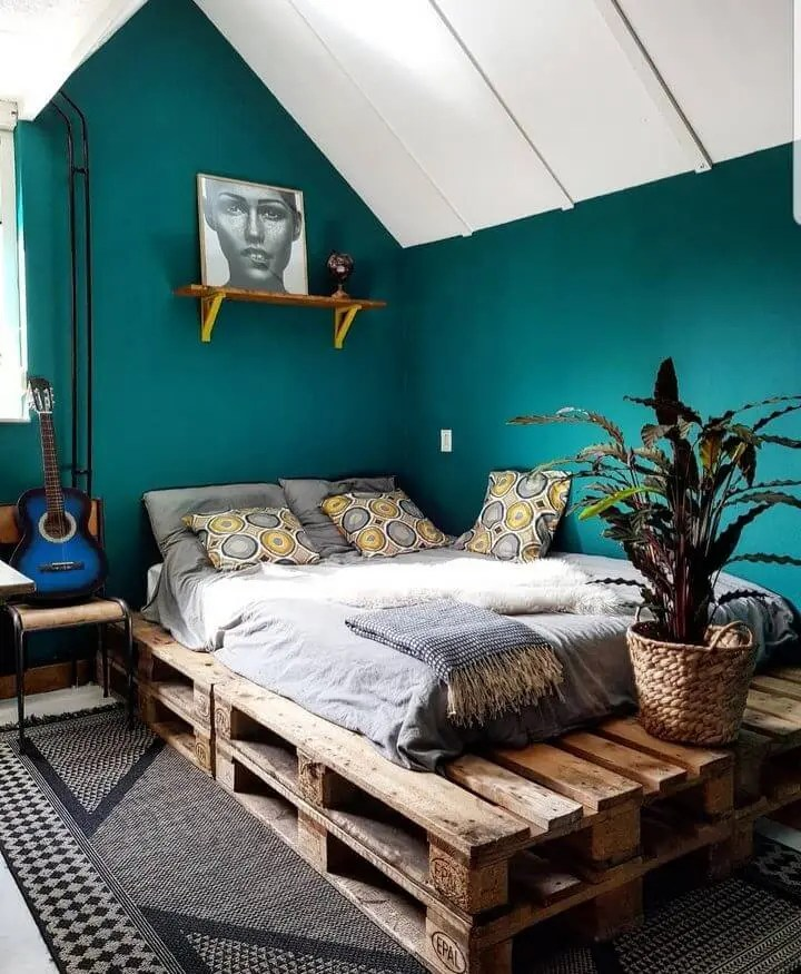 100 DIY Recycled Pallet Bed Frame Designs - Easy Pallet Ideas on Bed Pallet Design  id=91004