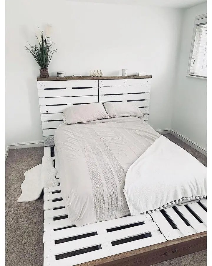100 DIY Recycled Pallet Bed Frame Designs - Easy Pallet Ideas on Bed Pallet Design  id=37367
