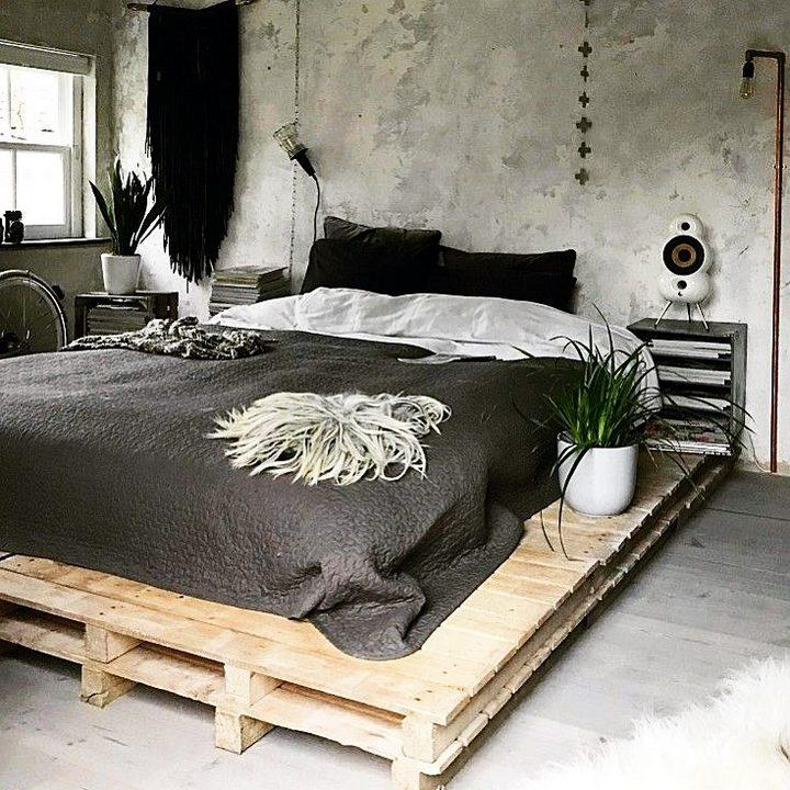 100 DIY Recycled Pallet Bed Frame Designs - Easy Pallet Ideas on Bed Pallet Design  id=32061
