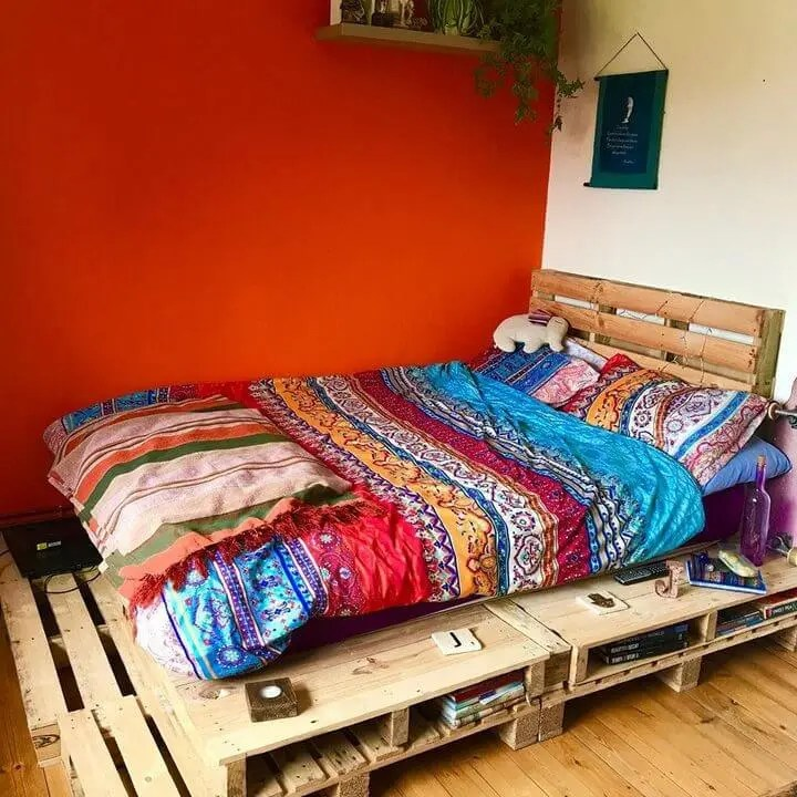 100 DIY Recycled Pallet Bed Frame Designs - Easy Pallet Ideas on Bed Pallet Design  id=42704