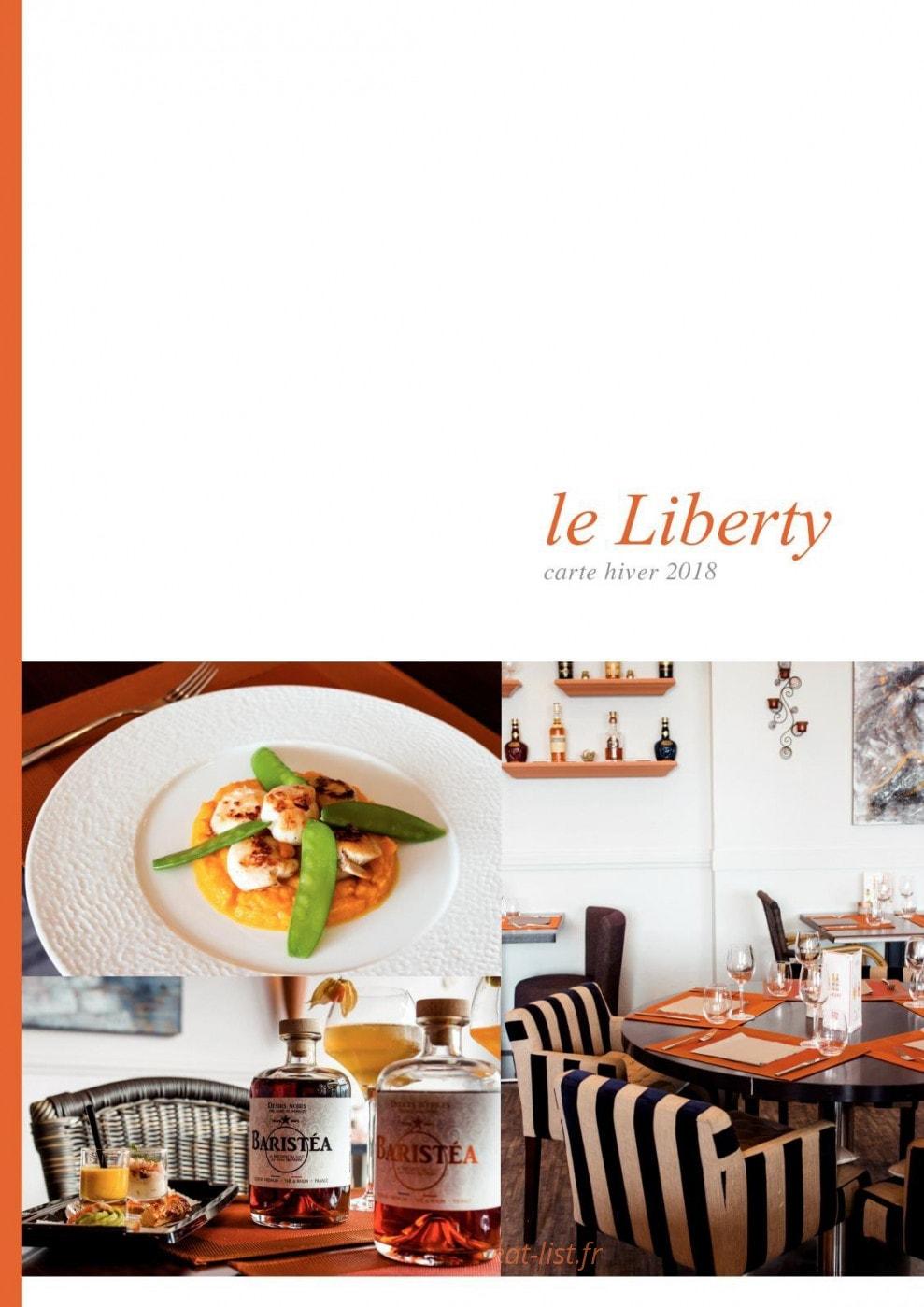 le liberty a cherbourg carte menu et