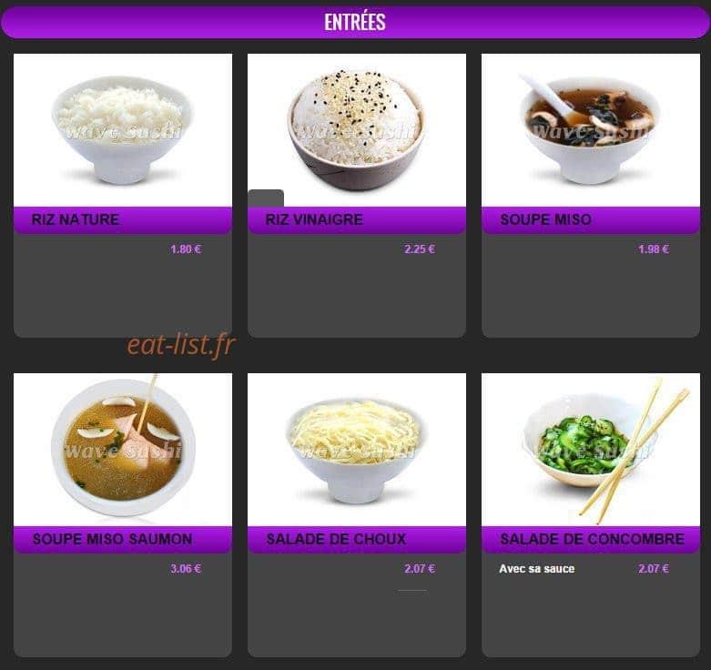 wave sushi a lieusaint carte menu et