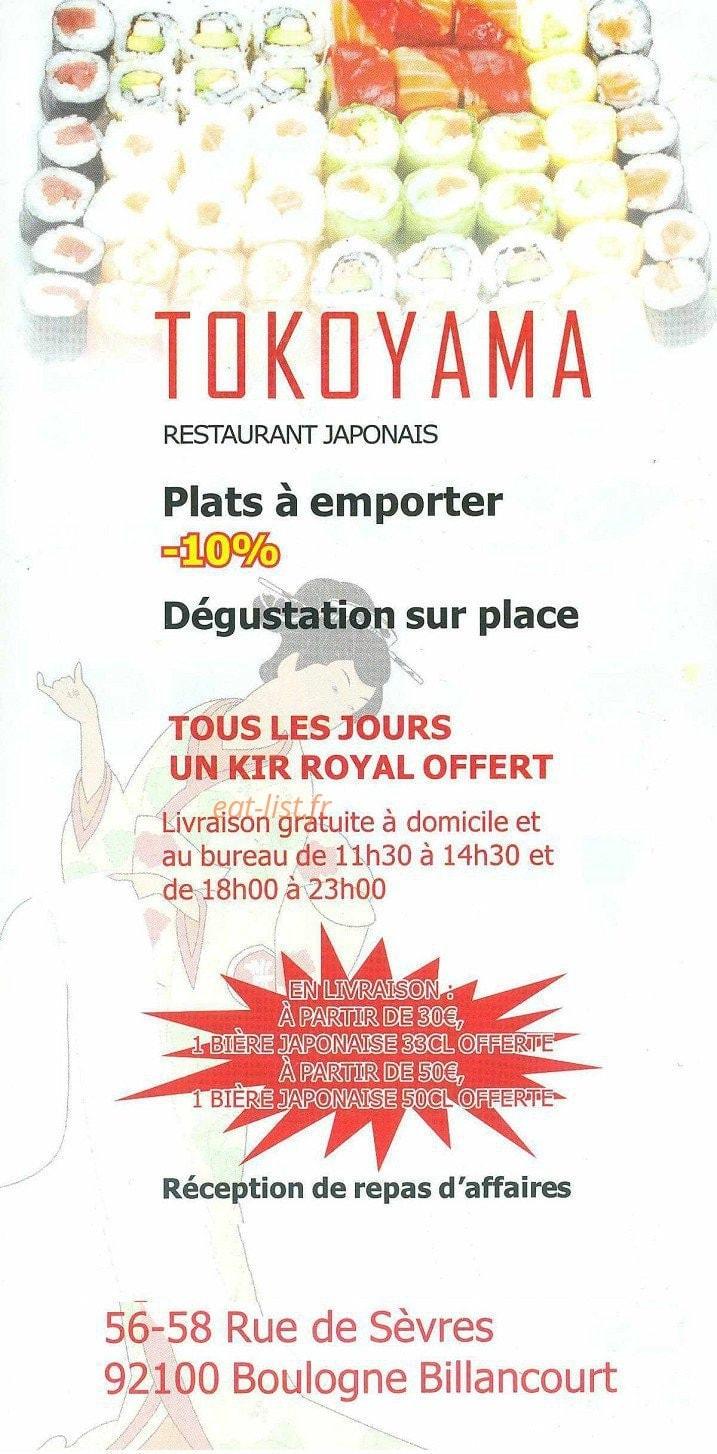 tokoyama a boulogne billancourt carte