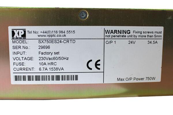 XP Plc Power Supply SX750ES24-CRTD -unused | eBay