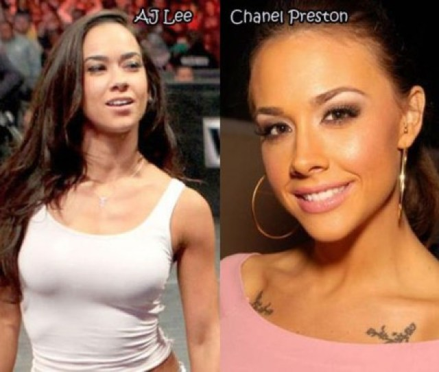 Pornstar Doppleganger Aj Lee And Chanel Preston Professional Wrestler Aj Lee And