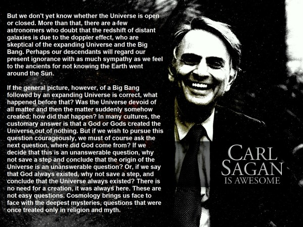 Carl Sagan has the answers. They're questions. - Picture ...