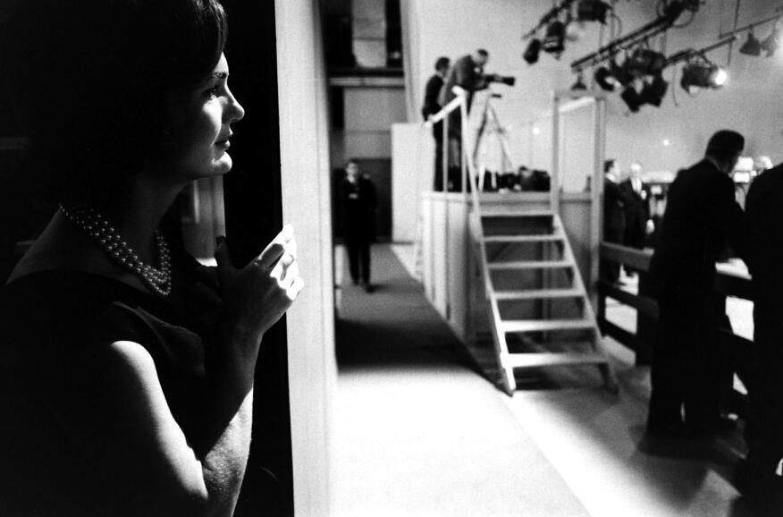 Jacqueline Kennedy watching Kennedy.
