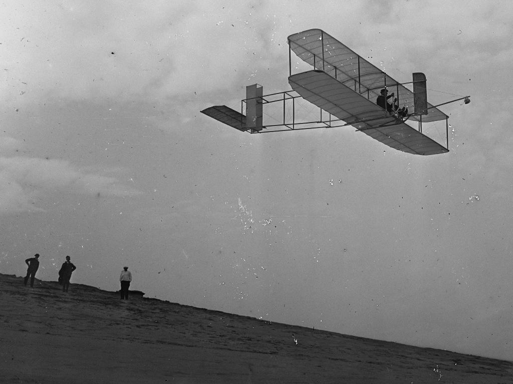 Orville Wright's First Flight.
