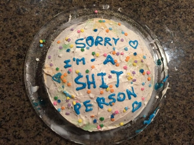 Image result for sorry cake