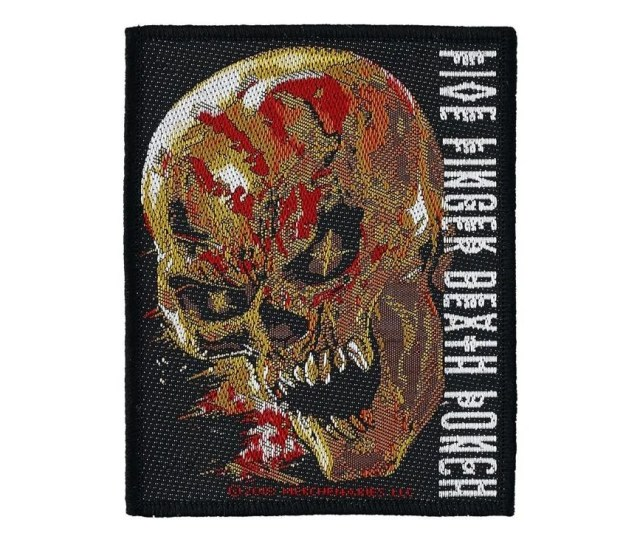 Five Finger Death Punch And Justice For None Woven Patch