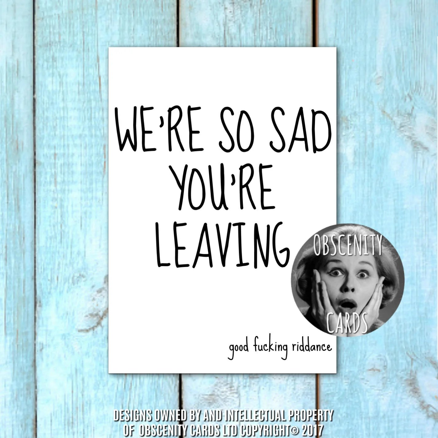 So Sad Youre Leaving Card Office Co Workers Retirement