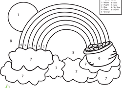 Preschool Color By Number Coloring Pages Printables Education Com