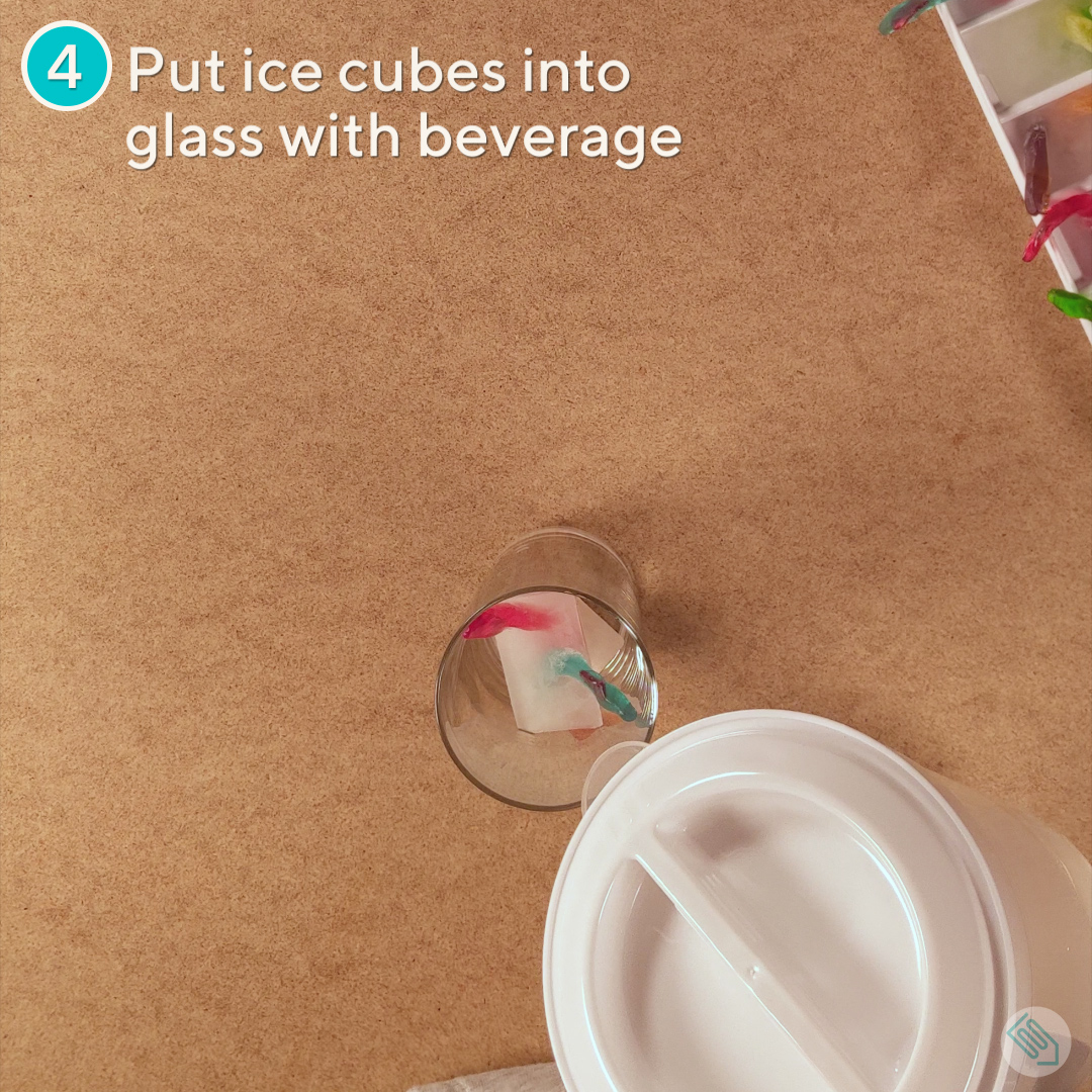 Make Gummy Worm Ice Cubes