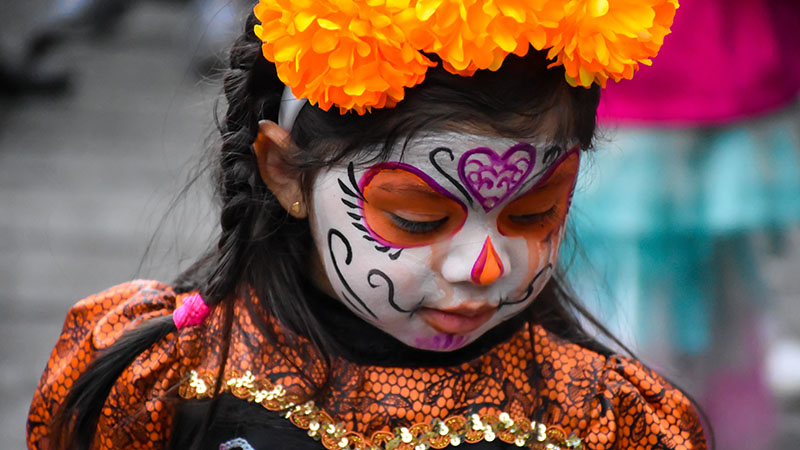 Day of the Dead little girl