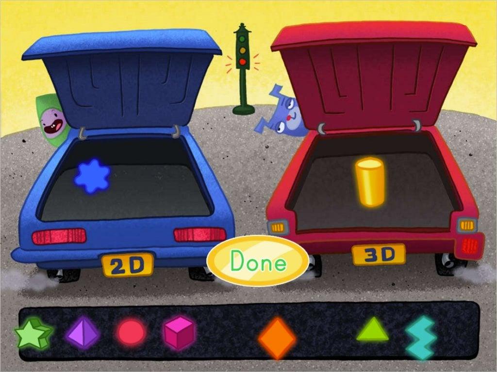 2d And 3d Shape Sort Car