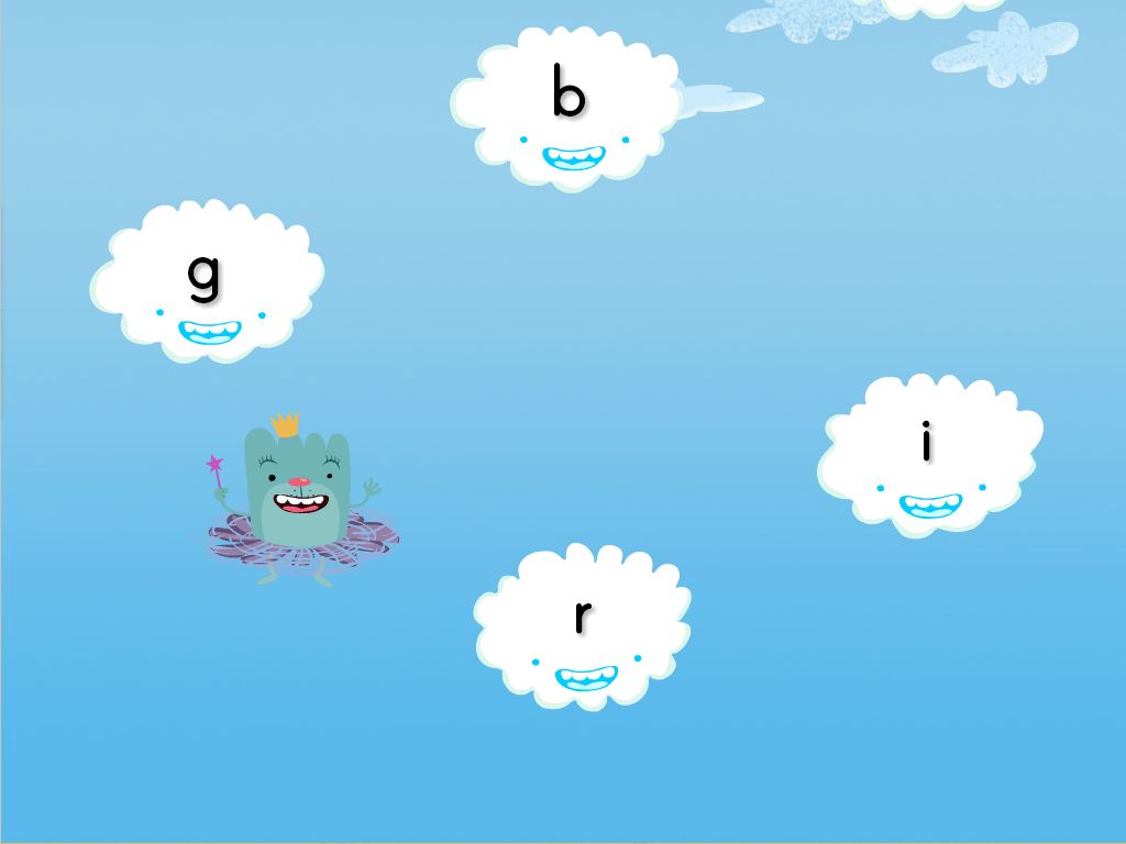 Lowercase Letters Cloud Catcher Game