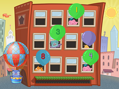 Free Online Kindergarten Games   Education com Game  Numbers 1 to 10 Balloon Pop