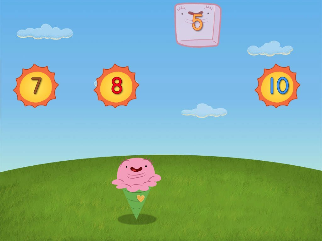 Numbers 1 To 10 Ice Cream Game