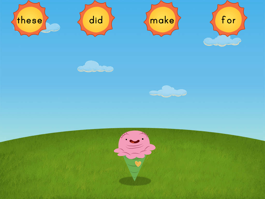 Sight Words Sun 3 Game