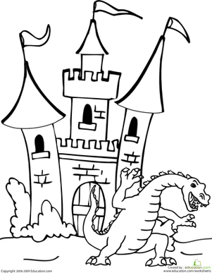 Dragon And Castle Worksheet Education Com