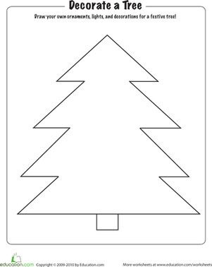 Decorate Your Own Christmas Tree Worksheet