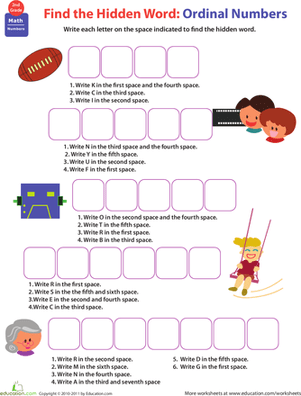 Know All About Numbers Ordinal Numbers