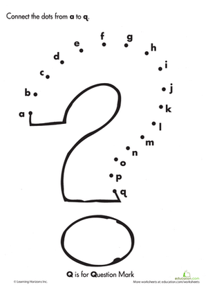 Connect The Dot Letters Worksheet