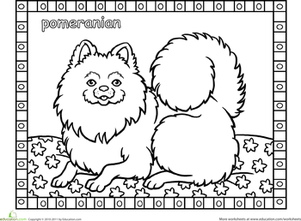 Color And Learn Dog Breed Coloring Pages Education Com