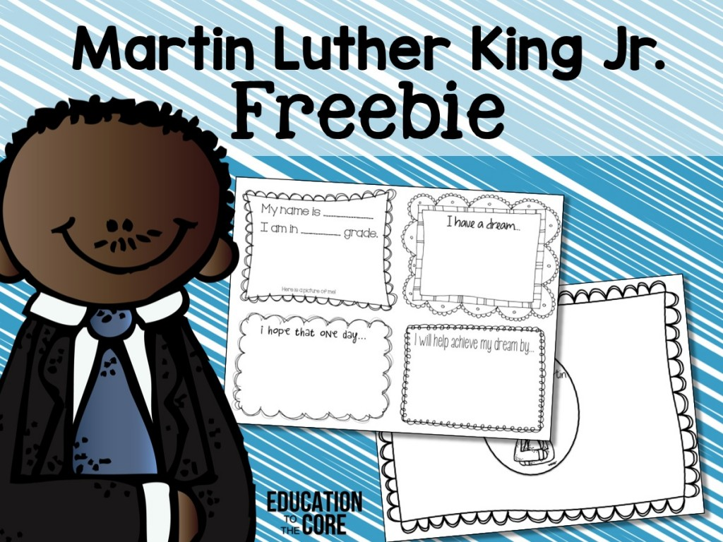 Martin Luther King Mini Book And Unit And Freebie