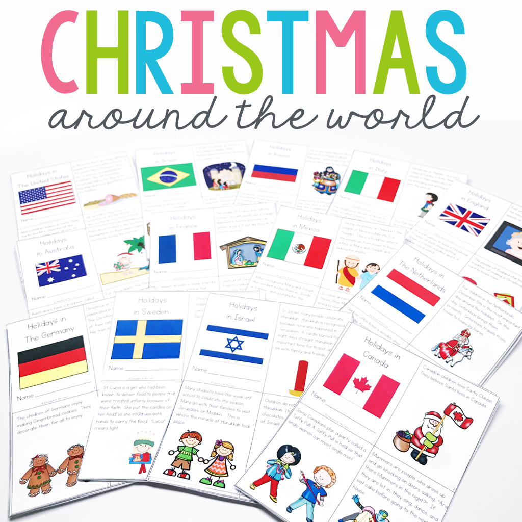 Holidays Christmas Around The World Unit And Mini Books