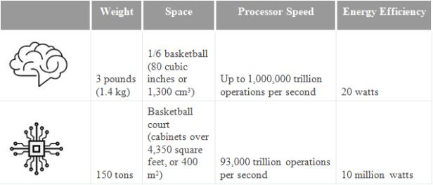 comparison of brain computer